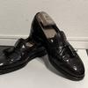 細かすぎて伝わらない?真夏の靴磨きAldenのタッセルローファー