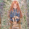 エポルの森の少女「憂鬱の森」寂しさから少し光が見えるイメージで塗ってみた