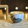 新富町の「BONGEN COFFEE(盆源珈琲)」でコルタド、金太郎のあんこ最中。
