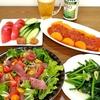 ☆トマト煮込みハンバーグ☆カルパッチョ☆野菜たっぷり☆晩酌☆