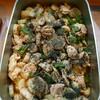 鶏肉と肉厚ピーマン、長芋の生姜煮