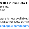 iOS10.1とmacOS Sierra 10.12.1、最初のパブリックベータが利用可能に