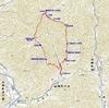 兵庫県宍粟市の水剣山(大谷を起点にした周回ルート)