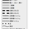 InDesignにプリセットされている線種いろいろ