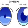 目の描き方(2017年頃の流行り)