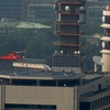 2018年7月17日(火)総務省消防庁屋上ヘリポート(中央合同庁舎2号館屋上ヘリポート)に離着陸訓練にやってきた埼玉県防災航空隊のJA03FD「あらかわ4」を東京タワーから撮った話