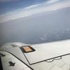 日本で唯一の河川敷空港 富山きときと空港に着陸