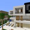 【Minecraft】モダンな豪邸を作る② 完成・内装外構編【コンパクトな街をつくるよ30】