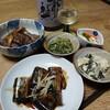 秋刀魚、コンニャクの煮物