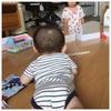息子 6ヶ月 なんでもおくちへカモン期Σ(・艸・○) シュシュキッキクリーナー*モニター*