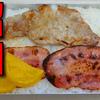 【昭和風の弁当】 豚ロース肉のソテーとベーコンの弁当