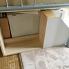 デッドスペースの有効活用・本棚と物置になるようなものを作りました。