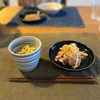 ざるラーメン、豚肉ともやしの炒め物、ホタルイカ