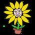 黄色い花 のイラスト