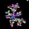 HTML5 canvas + javascript でDLAシミュレーションを描画