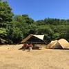 伊豆市民の森で海水浴キャンプ