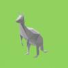 カンガルーのローポリゴン調ペーパークラフト(無料型紙)low-poly Kangaroo paper craft template