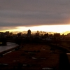 日曜日 逆日の出と虹