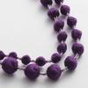 刺繍糸の丸珠をつなげた大人かわいい差し色ネックレス