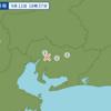 9月12日の午後6時37分頃に愛知県西部で地震が起きた。