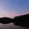 北の空が染まる~京都・宝ヶ池公園の夕景~