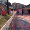 台中:彩虹眷村。南屯同安厝バス停での降車・帰路乗車が便利かと