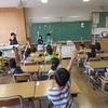 朝の会:校歌の練習も