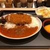松のや『ロースかつトマトカレー大盛り@コロッケサービス』酸味が効いて結構スパイシーなトマトカレーに惚れました!!