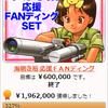 ★ 「海明寺裕 応援FANディング」は、196万2千円(327%)もの支援を集めて無事終了!