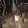 ドローナイフと雨中の焚き火