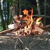 rmete『ファイアスタンド』3分割でコンパクト!激安な焚き火台がキャンプで大活躍。