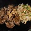 能美市大長野町にあるあじの牧場丸太小舎で、サイコロステーキが山盛りの大草原定食(牛ヒレ肉角切り大盛定食)。