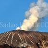 浅間山 噴煙と残雪のベストシーン