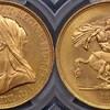 イギリス1893年ヴィクトリア5ポンド金貨PCGS MS63 ヴェールドヘッド