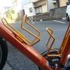 紀の川北岸自転車生活 新型ドリンクホルダーを装着する