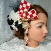 『市松模様の髪飾り』