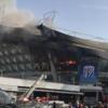 上海の虹口サッカー競技場で火事?
