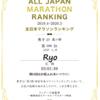 【第16回】全日本マラソンランキング【2020年】