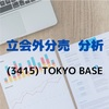【立会外分売分析】3415 TOKYO BASE