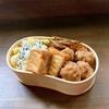 鶏団子と栗ご飯弁当