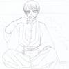 【鬼滅二次】身長が謎な愈史郎さんと珠世さんを描く【アナログイラスト】※追記 身長変更版も追加しました。