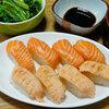 今日の食べ物 朝食にお寿司