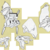 超時空騎団サザンクロス 戦術空軍の与圧服の背部パック、拳銃、ホルスター