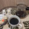今回のコーヒーはケニア(深煎り)~お茶請けはパンプティング~