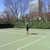 【ユーザーボイス】テニススクールの最上級クラスでのレッスンを受けながら、さらにレベルアップを図る大西さんの練習&試合データ公開