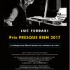2017年2月のリュック・フェラーリ関連イベント(欧州ならびに日本)