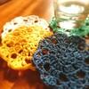 かぎ針編みで編む簡単コースター🌼動画と編み図付き🌼