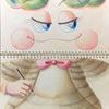 水彩画「すけっちちゃん〜ねこちゃんの服を描きました」