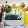 トヨタ販売店さまの2周年イベントにバルーン装飾