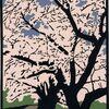 柴田町桜並木の切り絵
